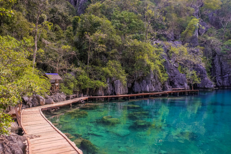 jezero Kayangan lake, Filipíny, Coron Island