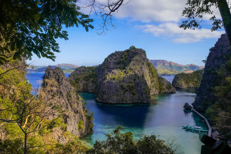 zátoka u jezera Kayangan lake, Filipíny, Coron Island