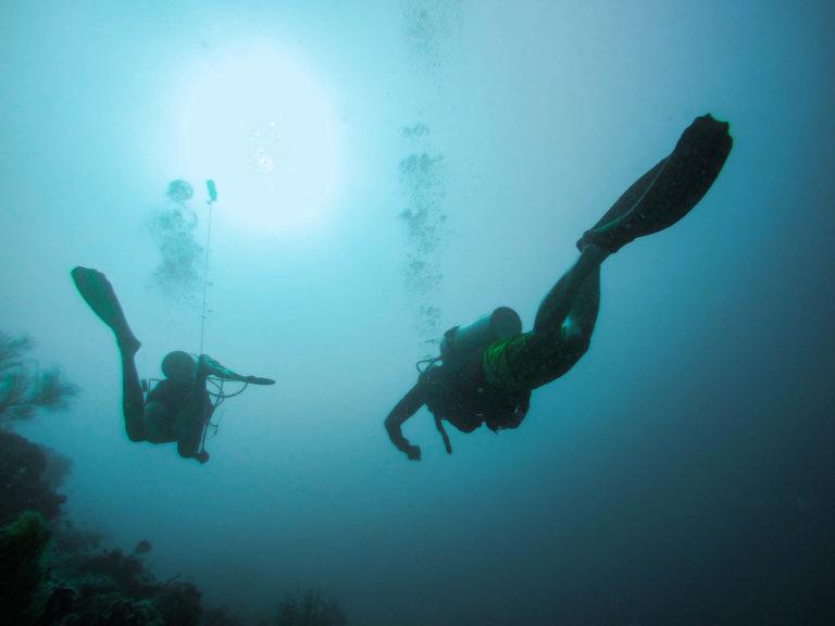 Jedna z potápění kolem Filipínských ostrovů