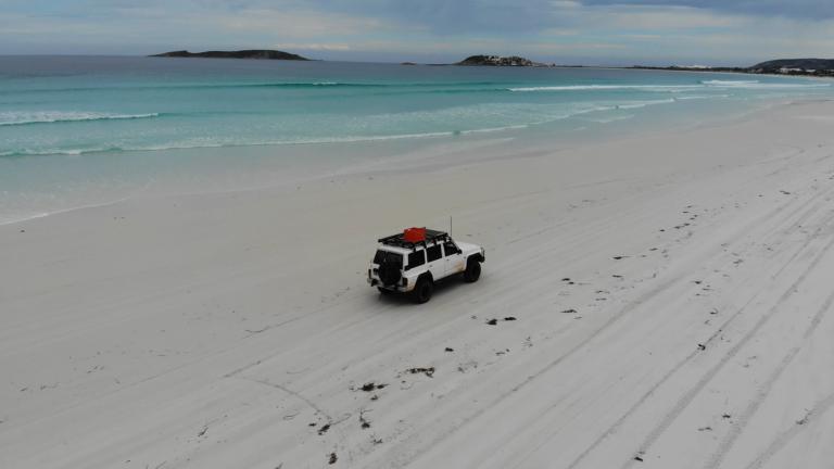 4x4 jízda po pláži Wharton Bay