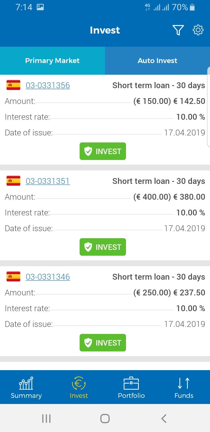 Investovani s mobilni aplikaci viainvest