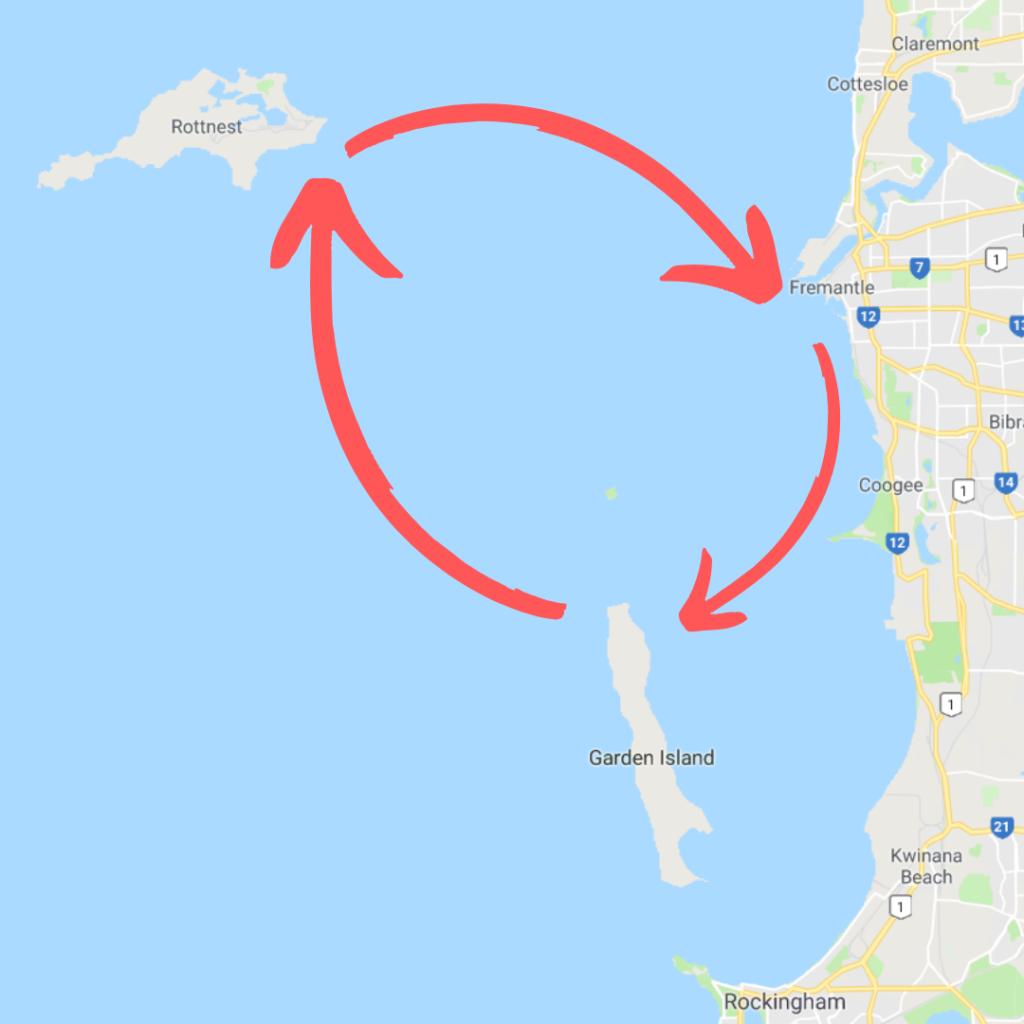 Plachtění okolo Perthu