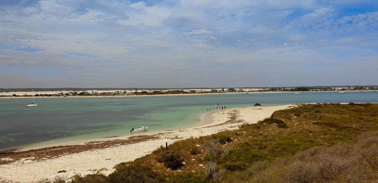pobřeží u Lancelin, Austrálie
