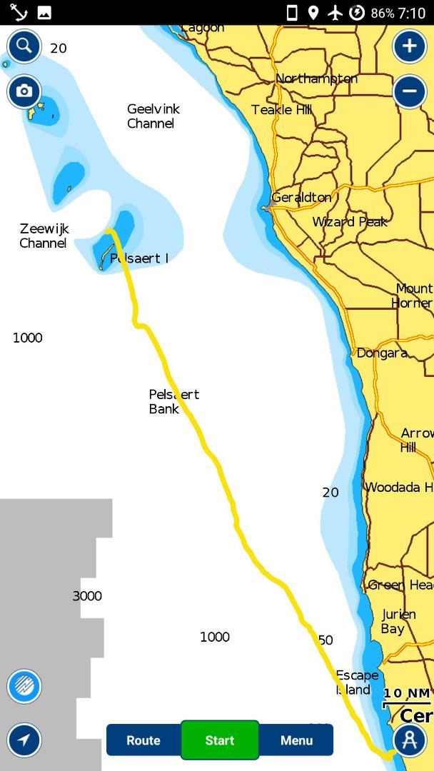 mapa plavby z navionics, Austrálie