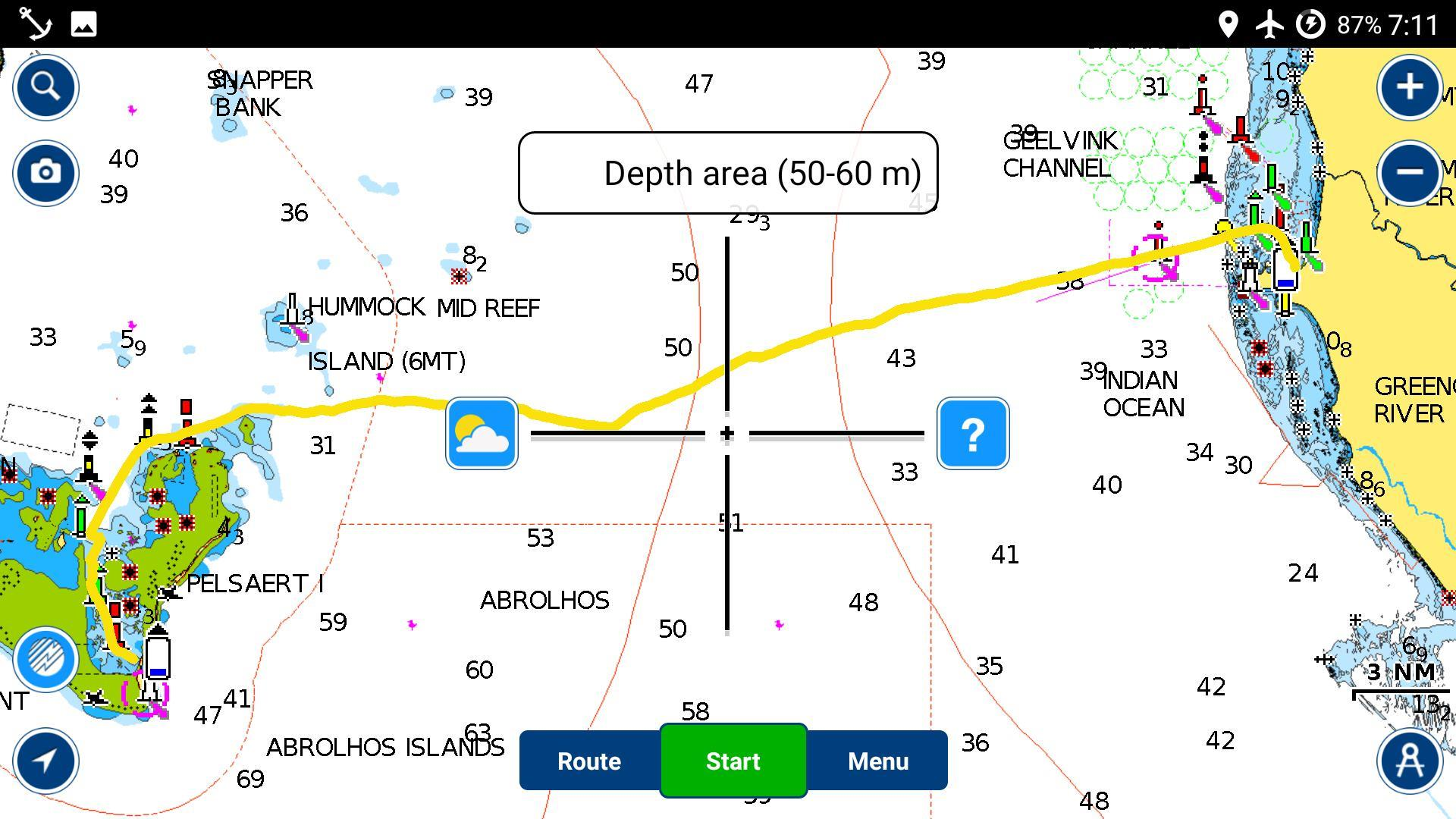pelsaert to geraldton map
