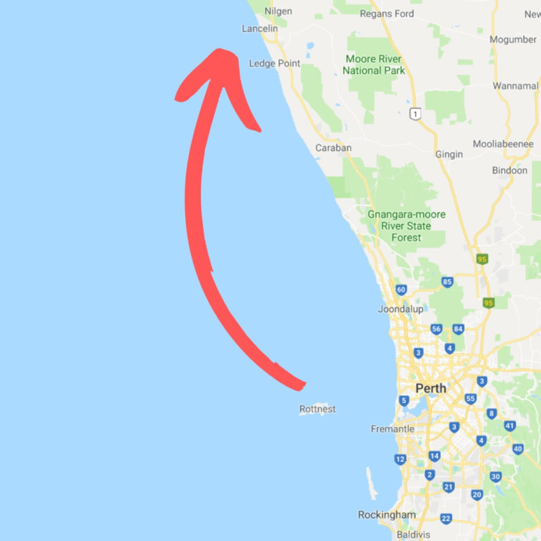plavba z Rottnest Island do města Lancelin, Austrálie
