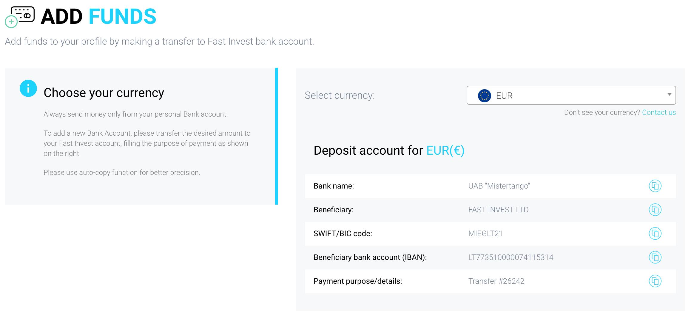 fast invest | osobnizkusenosti.cz | add funds