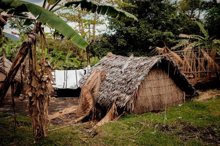 Obydlí na ostrově Tanna, Vanuatu, Melanésie, fotograf Lenka Martincová