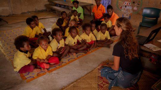 Zkušenosti sprací dobrovolníka naškole vJižním Pacifiku