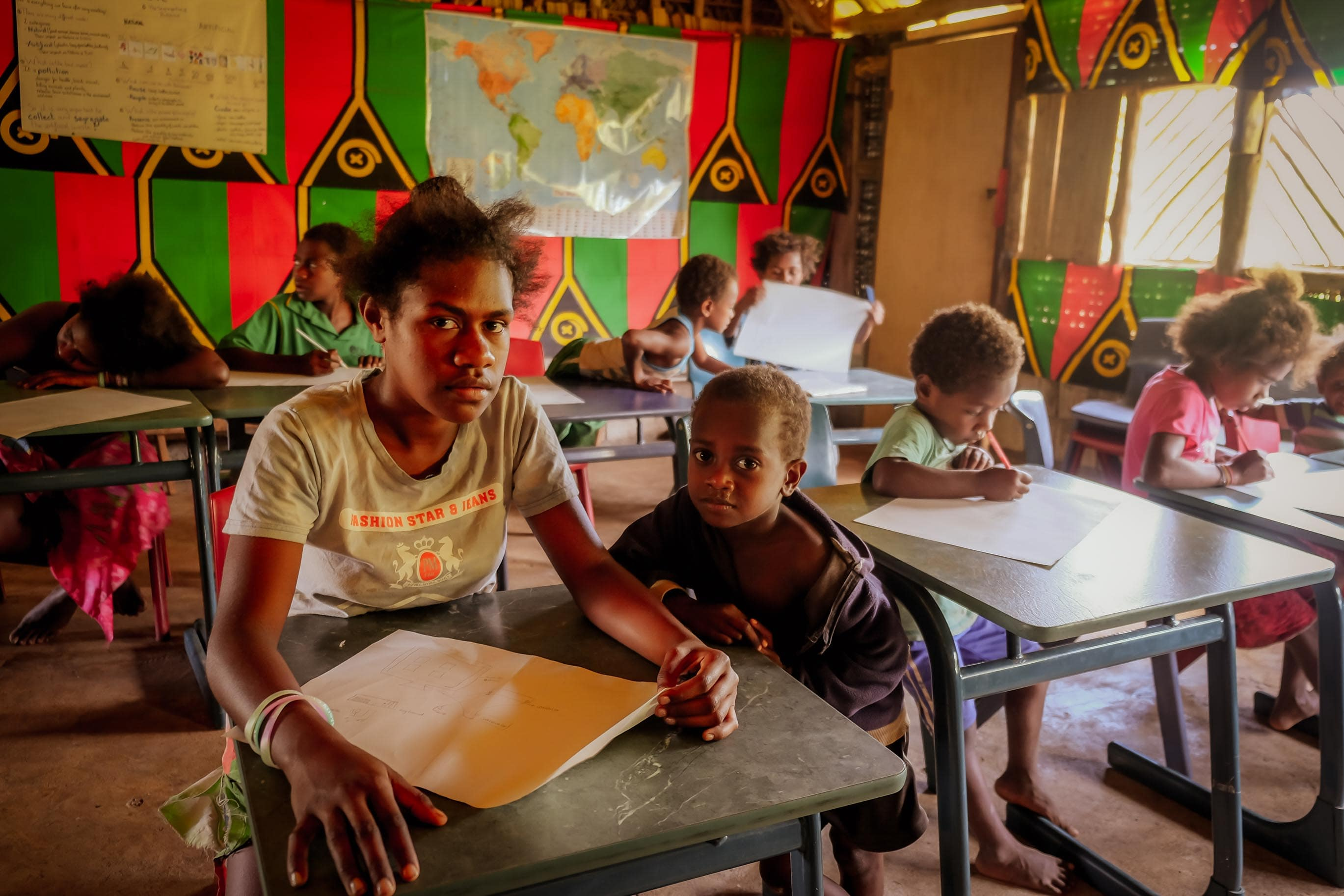 Farmářská škola na Vanuatu, Jižní Pacifik, fotograf Lenka Martincová