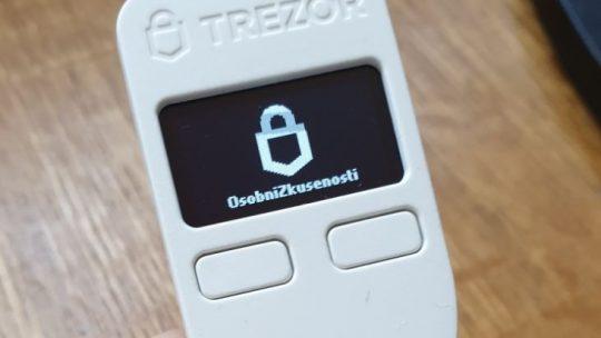 Návod nakryptoměnovou peněženku Trezor One