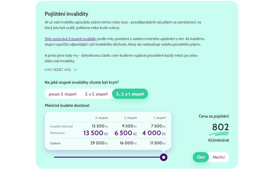 Pojištění invalidity Mutumutu